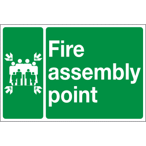 Fire Assembly point signs Image
