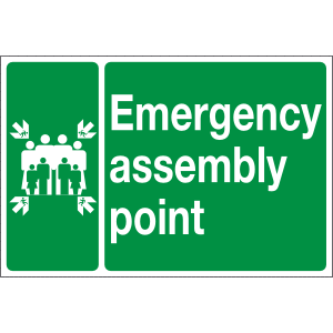 600mm x 400mm Emergency Assembly Point Image