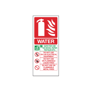 Water Fire Extinguisher Sign Image