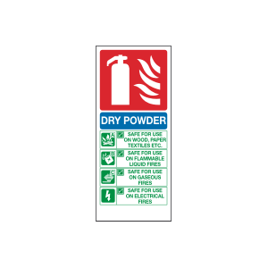 Dry Powder Fire Extinguisher Sign Image