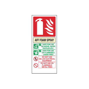 Foam Afff Fire Extinguisher Sign Image
