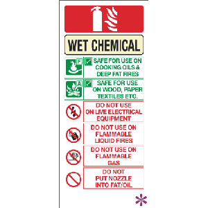Wet Chemical Fire Extinguisher Sign Image