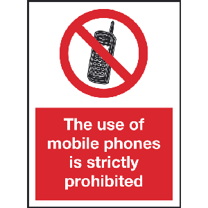 150mm x 200mm Mobille phones strictly prohibited Image