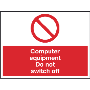 200mm x 150mm Computer equipment do not switch off Image