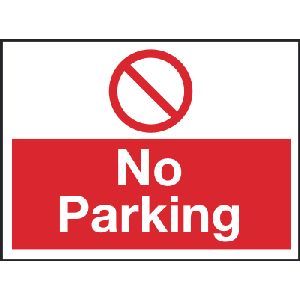 600mm x 450mm No Parking Sign Image