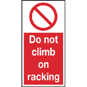 100mm x 200mm Do not climb on racking Image