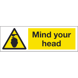 300mm x 100mm Mind Your Head Image