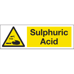 300mm x 100mm Sulphuric Acid Warning Sign Image