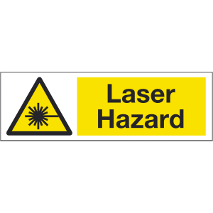 300mm x 100mm Laser hazard warning sign Image