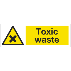 300mm x 100mm Toxic Waste Sign Image