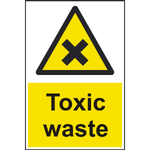200mm x 300mm Toxic Waste Sign Image