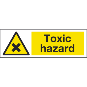 300mm x 100mm Toxic Hazard Sign Image