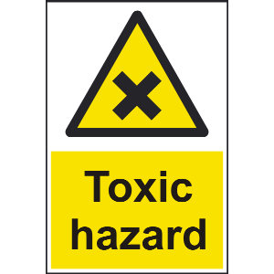 200mm x 300mm Toxic Hazard Sign Image