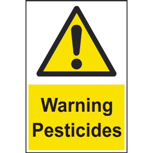 200mm x 300mm Warning Pesticides Sign Image