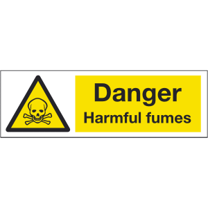 300mm x 100mm Danger Harmful Fumes Sign Image