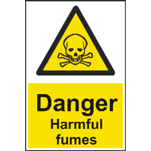 200mm x 300mm Danger harmful fumes Sign Image