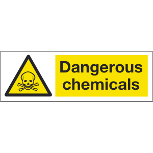 300mm x 100mm Dangerous chemicals Sign Image