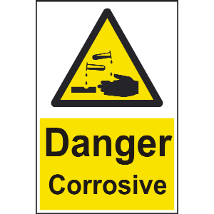 400mm x 600mm Danger corrosive Sign Image