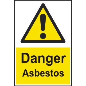 300mm x 100mm Danger asbestos Sign Image
