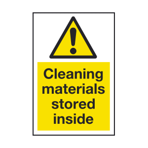 200mm x 300mm Cleaning materials Sign Image
